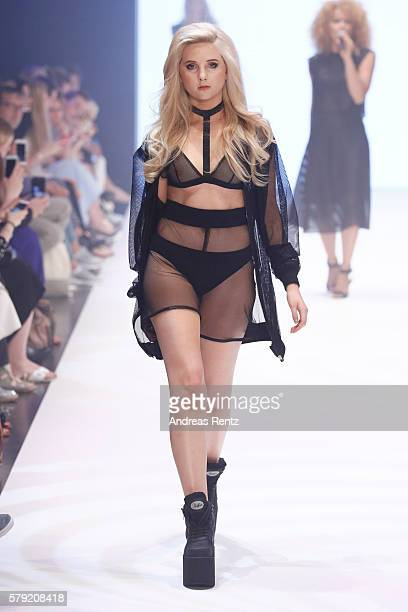 Model Anna Hiltrop walks the runway for Masha Schubbach as part of the Fashionyard show during Platform Fashion July 2016 at Areal Boehler on July 23...