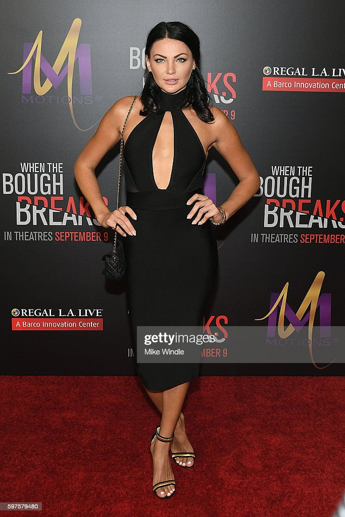 Model Anna Sizykh attends the premiere of Sony Pictures Releasing's 'When The Bough Breaks' at Regal LA Live Stadium 14 on August 28 2016 in Los...