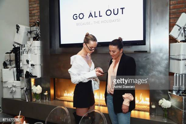 Model Annabella Barber and Makeup artist Tobi Henney attend THE OUTNET In Residence Dinner on November 7 2017 in New York City
