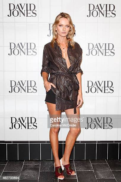 Model Annabella Barber arrives at the David Jones Autumn/Winter 2015 Collection Launch at David Jones Elizabeth Street Store on February 4 2015 in...