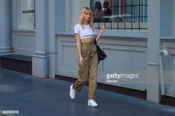 Model Annabella Barber is seen in SoHo on September 5 2017 in New York City