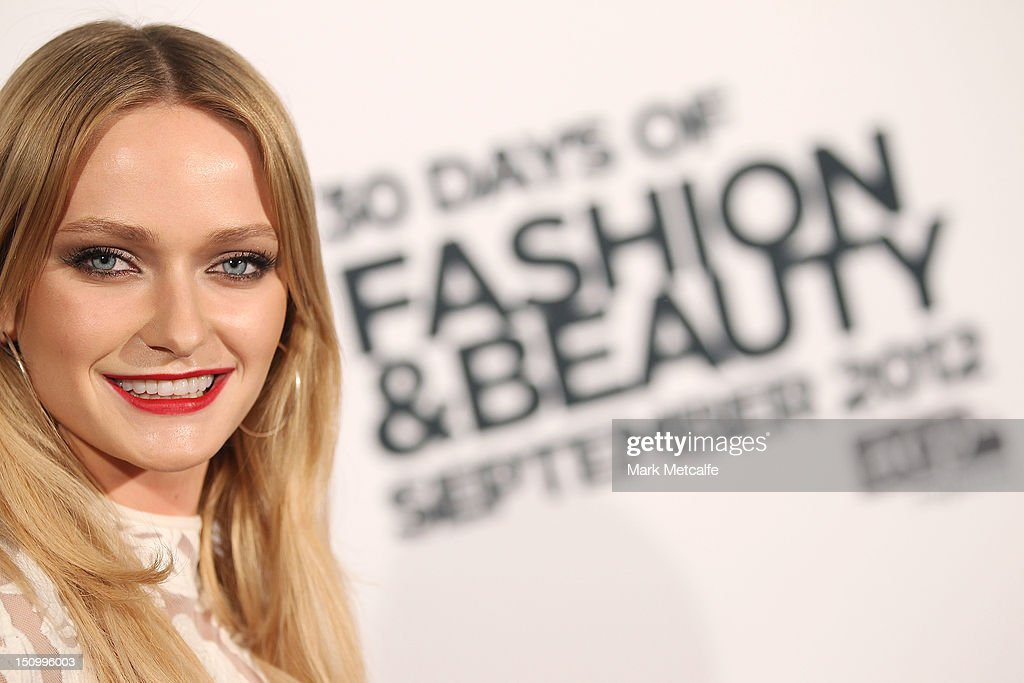 Model Annabella Barber poses during the 30 Days of Fashion & Beauty Launch at Sydney Town Hall on August 30, 2012 in Sydney, Australia.