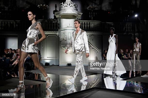 Model AnnaMaria Nemetz walks the runway attends the MICHALSKY StyleNite 2016 on July 1 2016 in Berlin Germany