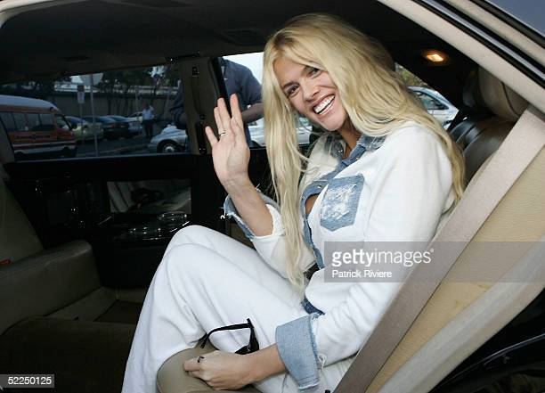 Model AnnaNicole Smith arrives at Sydney Airport February 28 2005 in Sydney Australia AnnaNicole Smith is one of the celebrities invited at the...