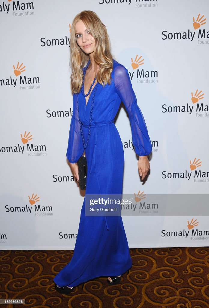 Model Anne Marie Van Dijk attends the Somaly Mam Foundation Gala at Gotham Hall on October 23, 2013 in New York City.