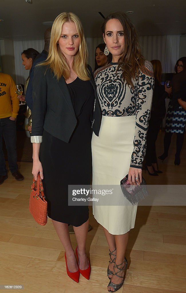Model Anne V (L) and television personality <a gi-track='captionPersonalityLinkClicked' href=/galleries/search?phrase=Louise+Roe&family=editorial&specificpeople=4300958 ng-click='$event.stopPropagation()'>Louise Roe</a> attend Rachel Roy Celebrates the New Host of 'Fashion Star' <a gi-track='captionPersonalityLinkClicked' href=/galleries/search?phrase=Louise+Roe&family=editorial&specificpeople=4300958 ng-click='$event.stopPropagation()'>Louise Roe</a> at Mondrian Los Angeles on February 27, 2013 in West Hollywood, California.