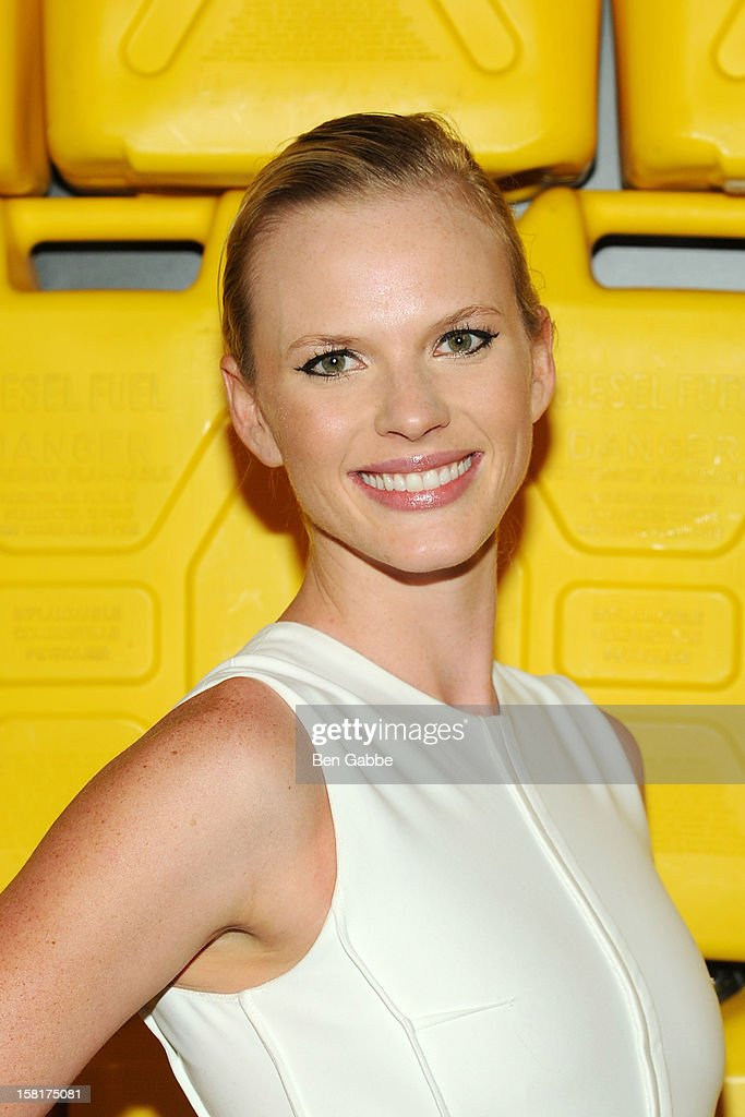 Model Anne V attends 7th Annual Charity Ball Benefiting Charity:Water at the 69th Regiment Armory on December 10, 2012 in New York City.