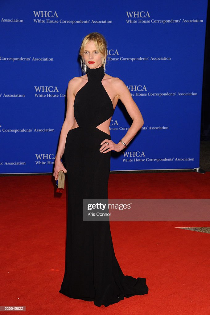 Model Anne V attends the 102nd White House Correspondents' Association Dinner on April 30, 2016 in Washington, DC.
