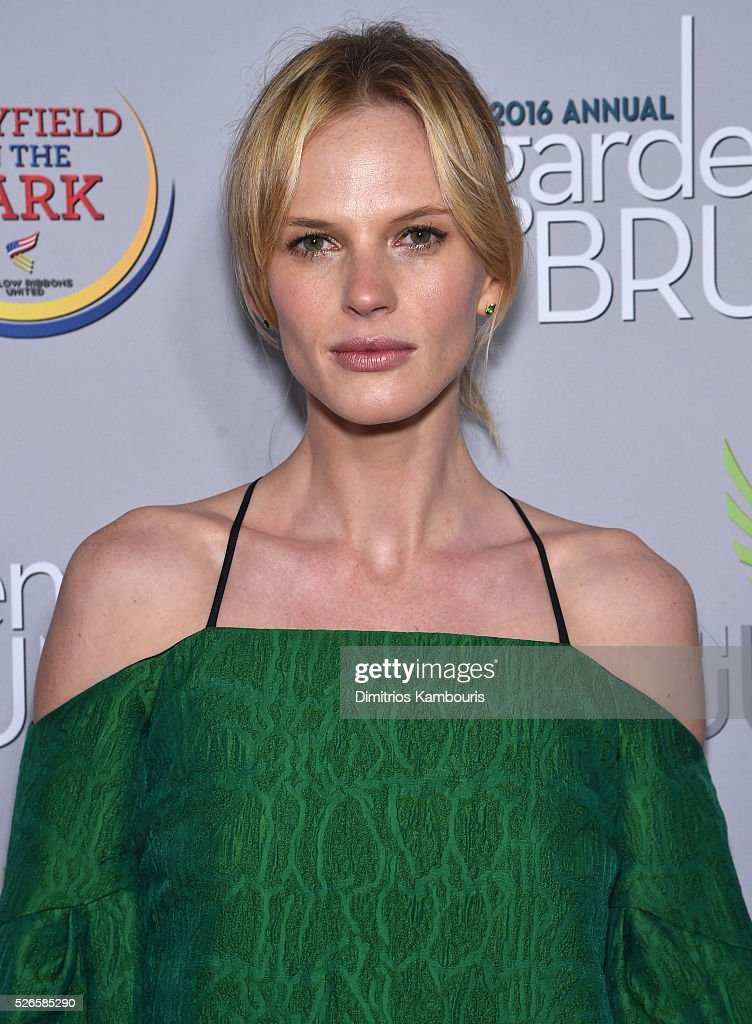 Model Anne V attends the Garden Brunch prior to the 102nd White House Correspondents' Association Dinner at the Beall-Washington House on April 30, 2016 in Washington, DC.