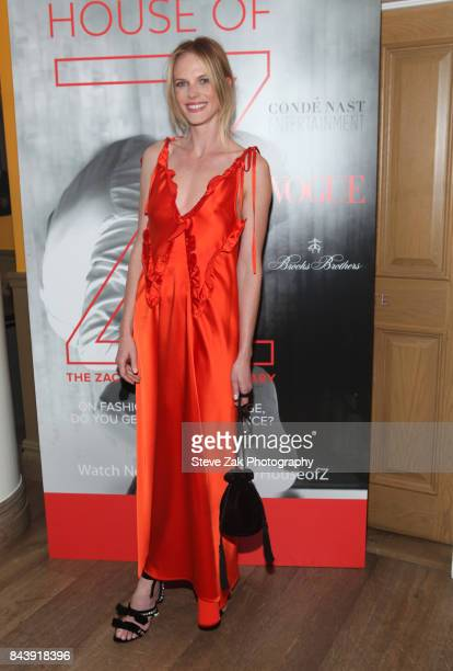 Model Anne V attends the premiere of 'House Of Z' hosted by Brooks Brothers with The Cinema Society at Crosby Street Hotel on September 7 2017 in New...