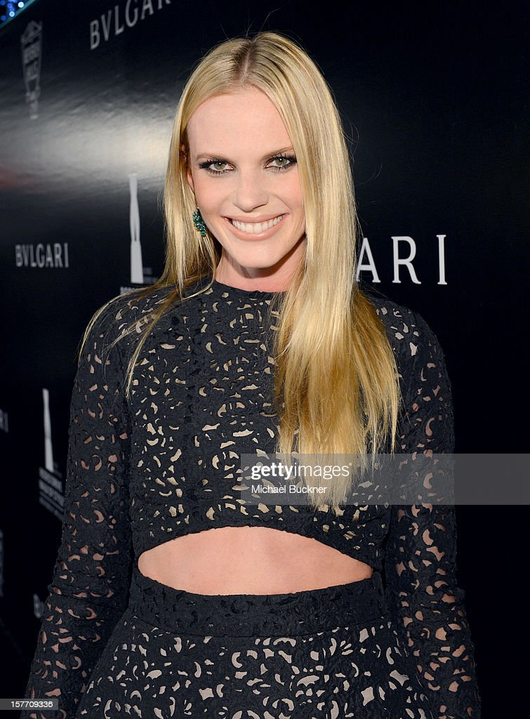Model Anne V attends the Rodeo Drive Walk Of Style honoring BVLGARI and Mr. Nicola Bulgari held at Bulgari on December 5, 2012 in Beverly Hills, California.