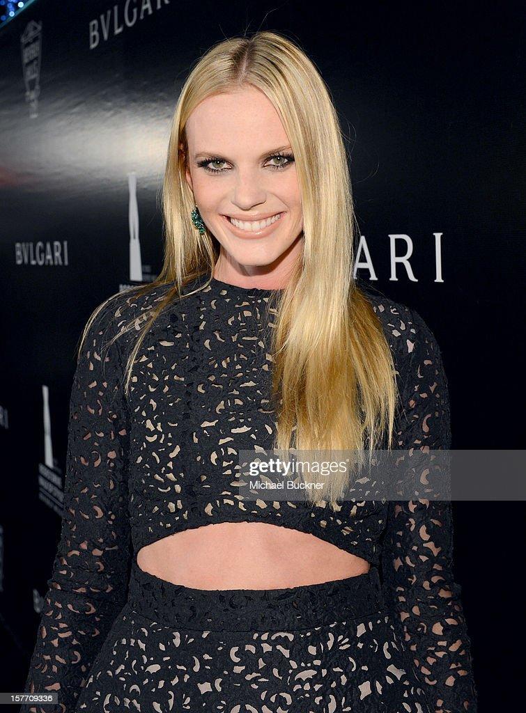Model Anne V attends the Rodeo Drive Walk Of Style honoring BVLGARI and Mr. Nicola Bulgari held at Bulgari on December 5, 2012 in Beverly Hills, California.