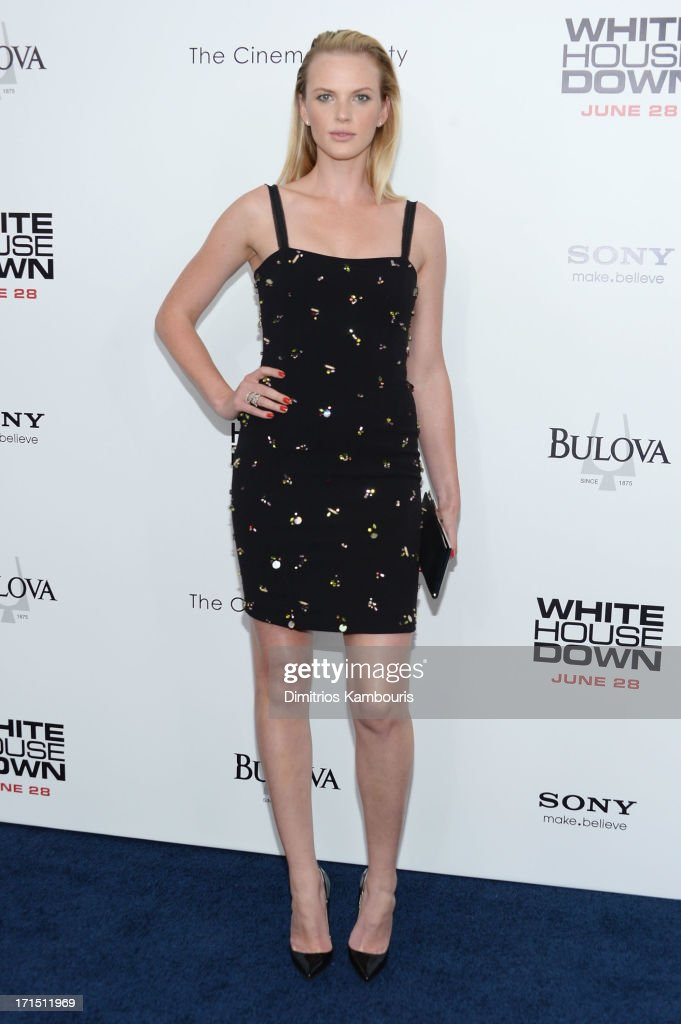 Model Anne V attends 'White House Down' New York premiere at Ziegfeld Theater on June 25, 2013 in New York City.