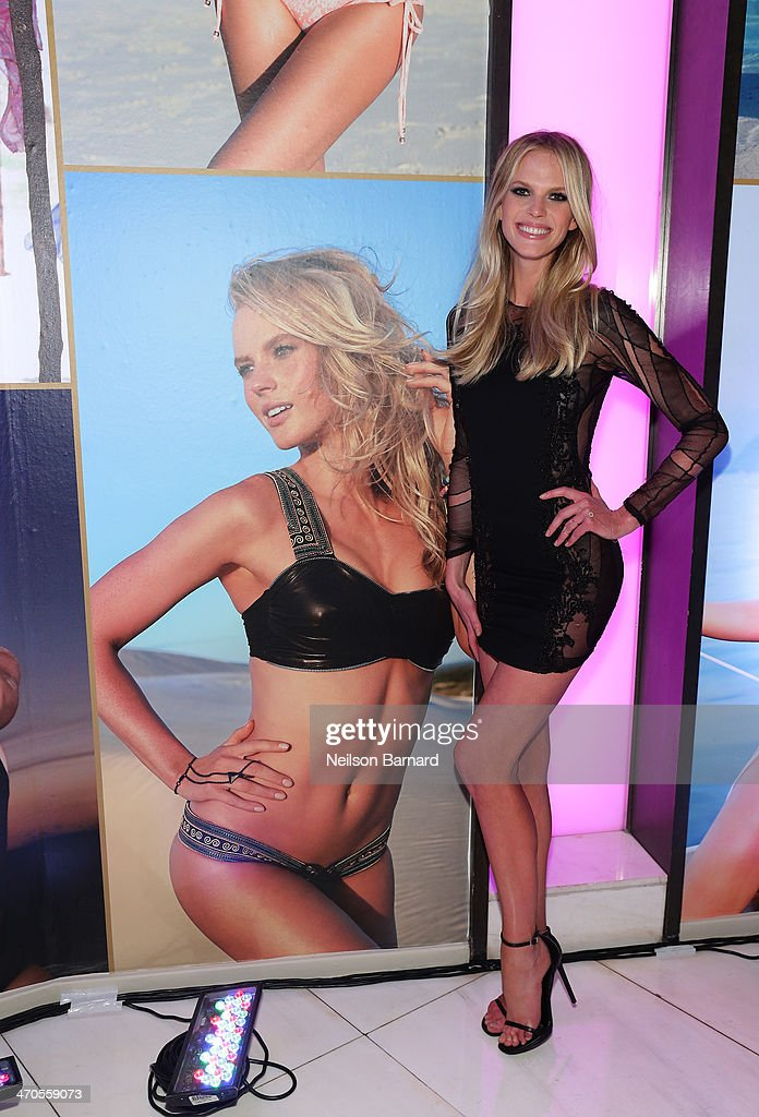 Model <a gi-track='captionPersonalityLinkClicked' href=/galleries/search?phrase=Anne+Vyalitsyna&family=editorial&specificpeople=2371862 ng-click='$event.stopPropagation()'>Anne Vyalitsyna</a> attends Club SI Swimsuit at LIV Nightclub hosted by Sports Illustrated at Fontainebleau Miami on February 19, 2014 in Miami Beach, Florida.