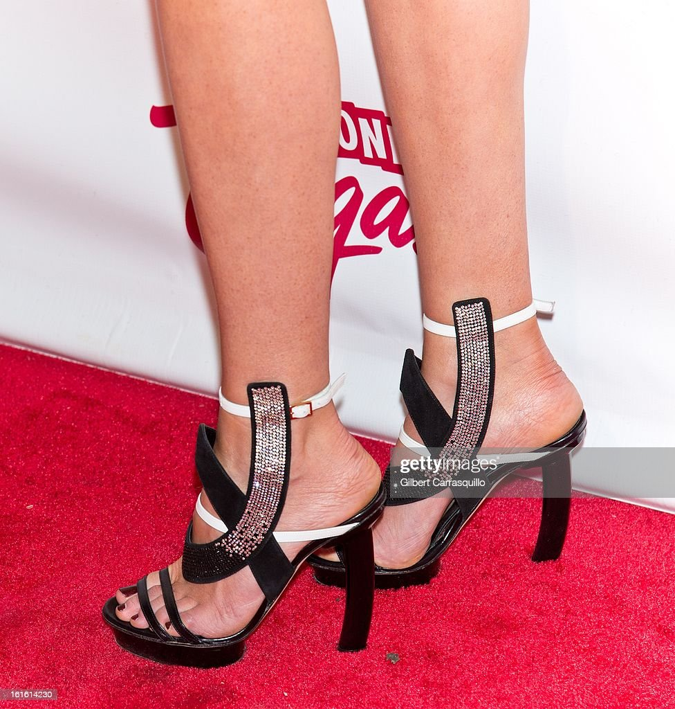Model Anne Vyalitsyna (shoe detail) attends Sports Illustrated Swimsuit Launch Party at Crimson on February 12, 2013 in New York City.