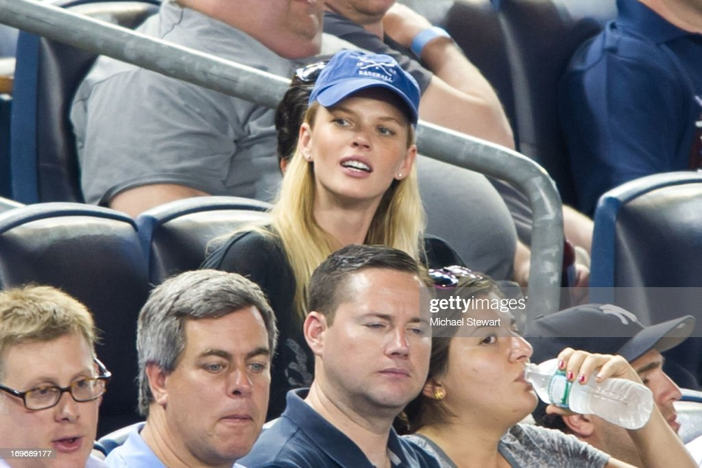 Model Anne Vyalitsyna attends the New York Mets vs New York Yankees game at Yankee Stadium on May 30, 2013 in New York City.