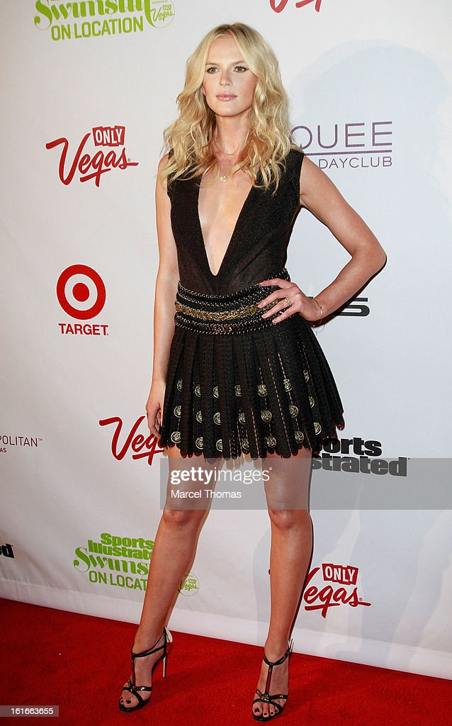Model Anne Vyalitsyna attends the 'Sports Illustrated Swimsuit on Location' event at the Marquee Nightclub at The Cosmopolitan of Las Vegas on February 13, 2013 in Las Vegas, Nevada.
