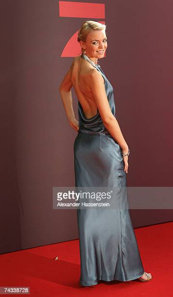 Model Anni arrives for the 'Blaue Panther' Bavarian Television Award 2007 Ceremony at the Prinzregenten Theater on May 25 2007 in Munich Germany