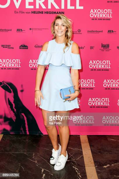 Model Annika Gassner attends the 'Axolotl Overkill' Berlin Premiere at Volksbuehne RosaLuxemburgPlatz on June 21 2017 in Berlin Germany