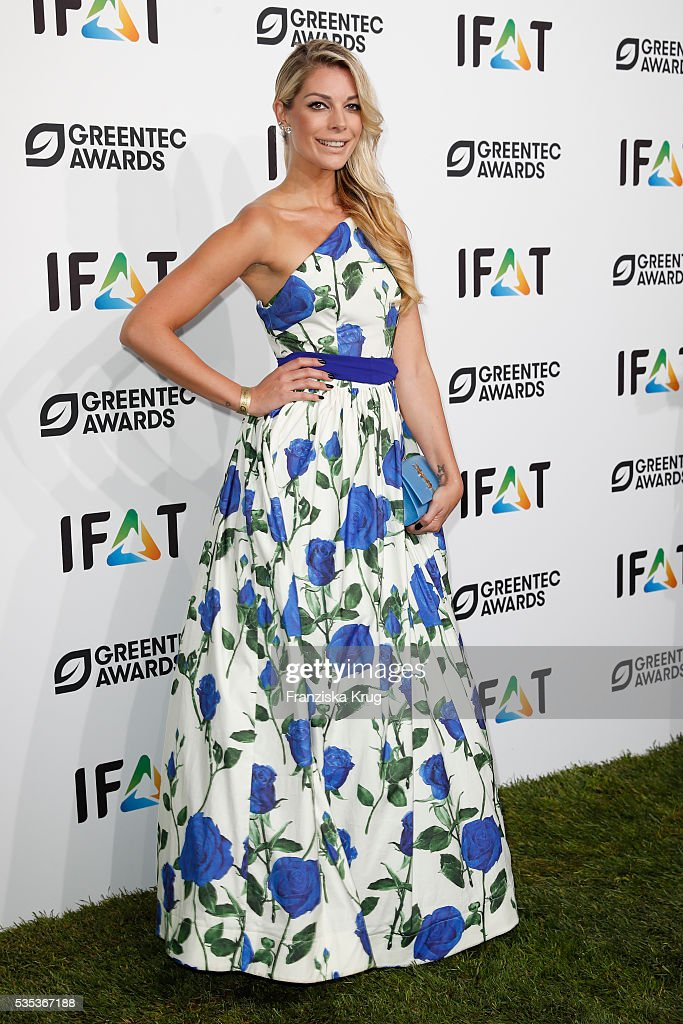 Model Annika Gassner attends the Green Tec Award at ICM Munich on May 29, 2016 in Munich, Germany.