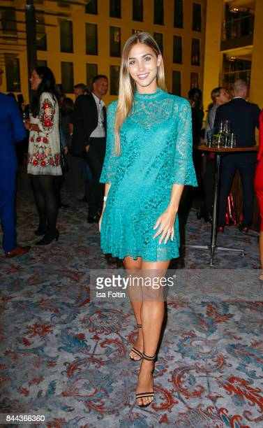 Model AnnKathrin Broemmel attends a QVC event during the Vogue Fashion's Night Out on September 8 2017 in duesseldorf Germany