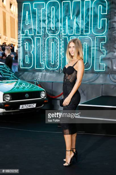 Model AnnKathrin Broemmel attends the 'Atomic Blonde' World Premiere at Stage Theater on July 17 2017 in Berlin Germany