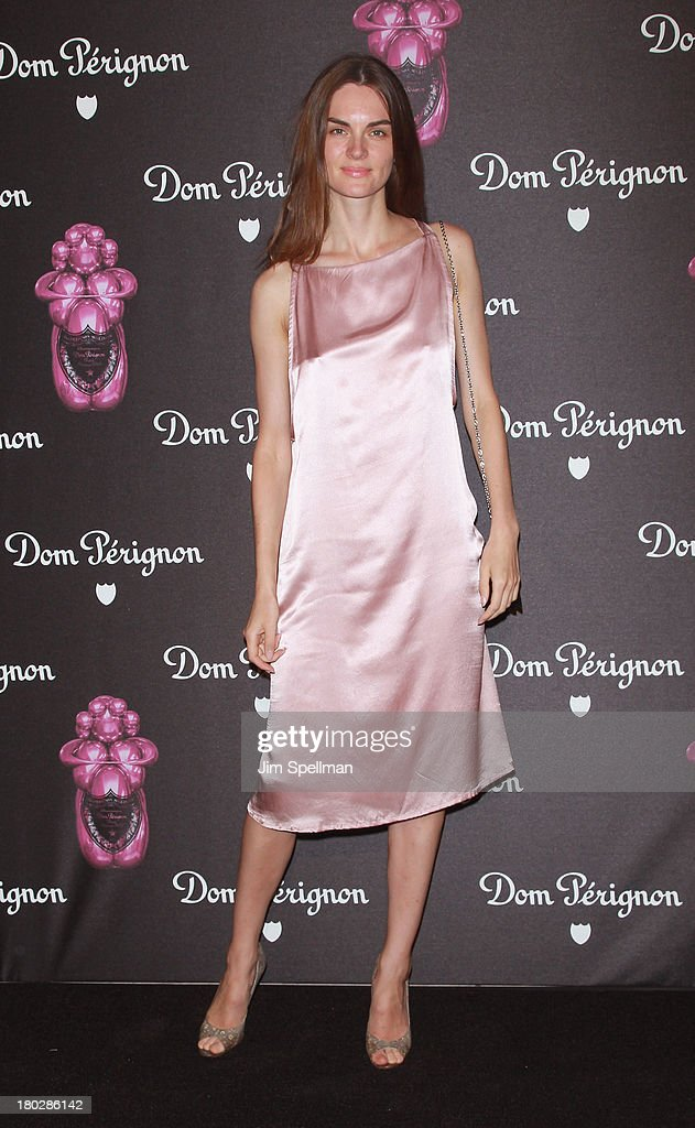 Model <a gi-track='captionPersonalityLinkClicked' href=/galleries/search?phrase=Anouck+Lepere&family=editorial&specificpeople=779132 ng-click='$event.stopPropagation()'>Anouck Lepere</a> attends the Dom Perignon Limited Edition Jeff Koons Bottle Launch at 711 Greenwich Street on September 10, 2013 in New York City.