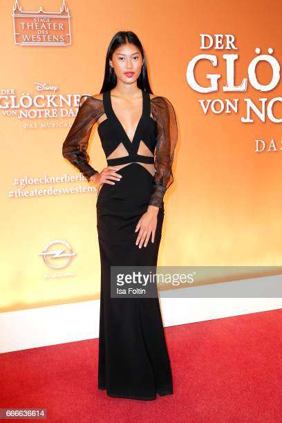 Model Anuthida Polypetch attends the premiere of the musical 'Der Gloeckner von Notre Dame' on April 9 2017 in Berlin Germany