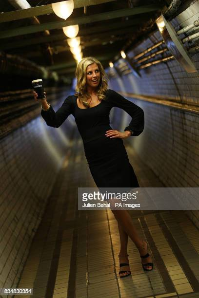 Model Aoife Coogan launches the 'Guinness Golden Ticket experience' at the St James' Gate brewery in Dublin