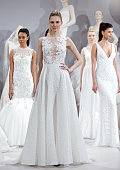 A model appears at A Toast To Tony Ward A Special Bridal Collection at Kleinfeld on April 20 2015 in New York City