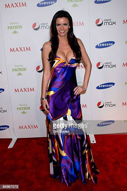 Model April Rose arrives for the Maxim Magazine Super Bowl XLIII party at The Ritz Ybor on January 30 2009 in Tampa Florida