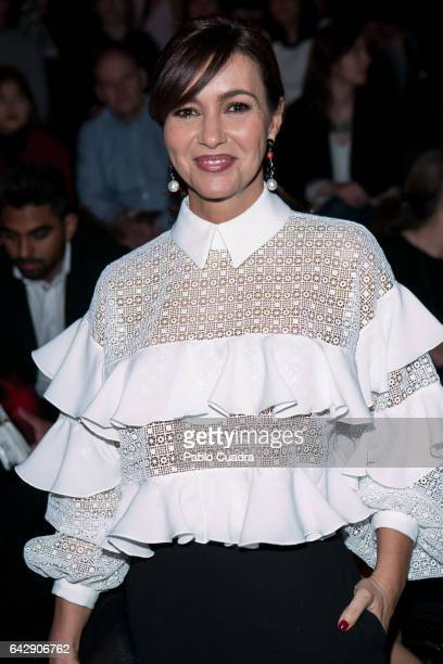 Model Arancha del Sol attends the front row of Juana Martin show during Mercedes Benz Fashion Week Madrid Autumn / Winter 2017 at Ifema on February...