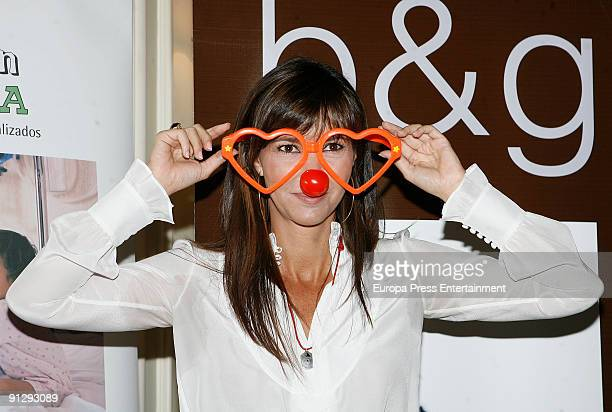Model Arancha del Sol attends the Theodora Foundation Event at Palace Hotel on September 30 2009 in Madrid Spain
