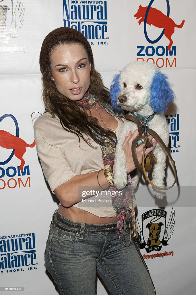 Model Aria London attends Hooray for Hollywoof! Grand Opening and Launch Party for Zoom Room at Zoom Room on February 16, 2013 in Sherman Oaks, California.