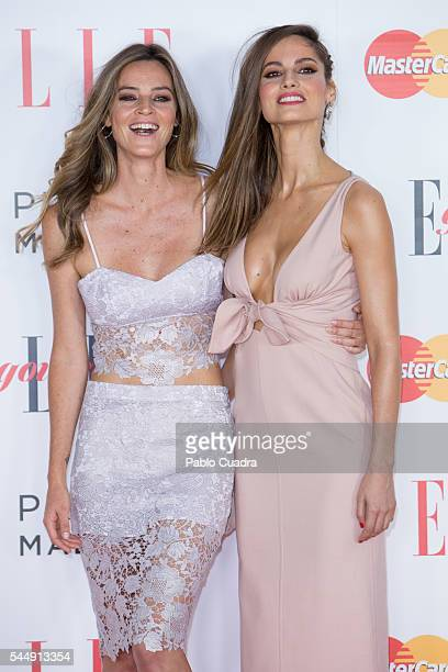 Model Ariadne Artiles and her sister Aida Artiles attend 'Elle Gourmet' Awards 2016 party at the Italian Embassy on July 4 2016 in Madrid Spain
