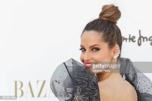 Model Ariadne Artiles attends the 'Harper's Bazaar summer party' photocall at Casa de Velazquez on June 28 2017 in Madrid Spain
