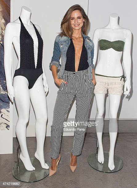 Model Ariadne Artiles presents 'Capsule Collection' at BSpace on May 21 2015 in Madrid Spain