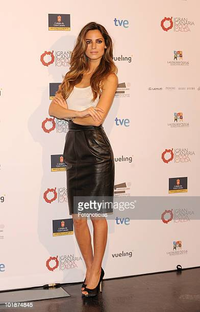 Model Ariadne Artiles promotes Gran Canaria Moda Calida at Espacio Villanueva on June 8 2010 in Madrid Spain