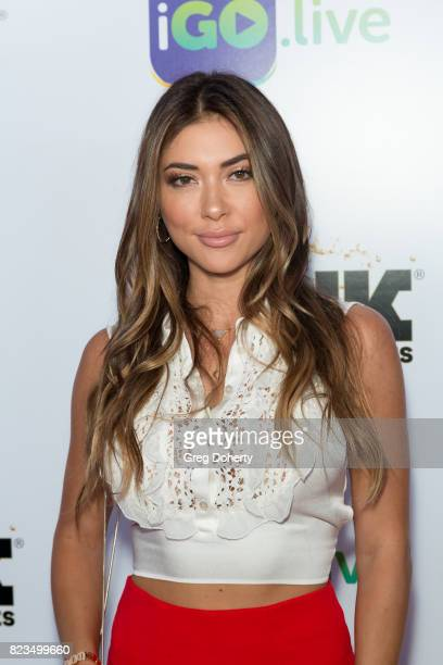 Model Arianny Celeste arrives for the iGolive Launch Event at the Beverly Wilshire Four Seasons Hotel on July 26 2017 in Beverly Hills California