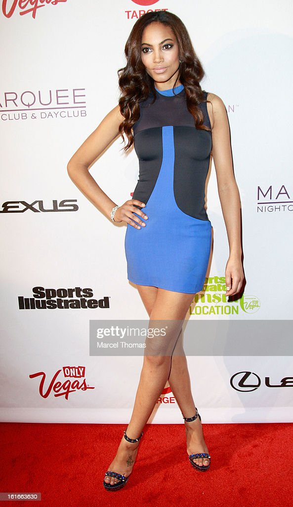 Model Ariel Meredith attends the 'Sports Illustrated Swimsuit on Location' event at the Marquee Nightclub at The Cosmopolitan of Las Vegas on February 13, 2013 in Las Vegas, Nevada.