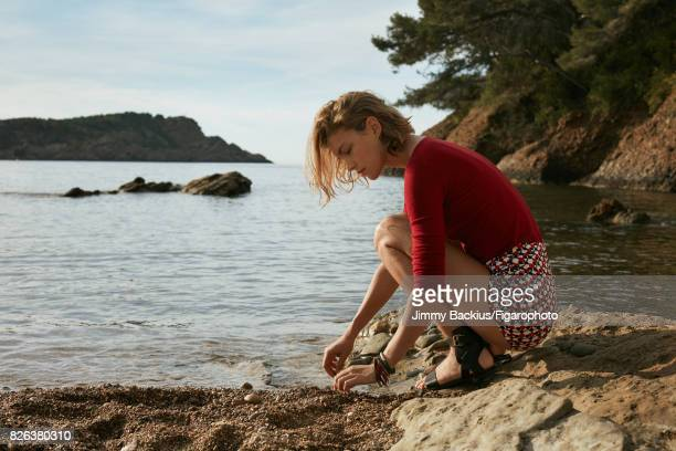 Model Arizona Muse poses for Madame Figaro on May 22 2017 in La Ciotat France Shirt shorts bracelets sandals PUBLISHED IMAGE CREDIT MUST READ Jimmy...
