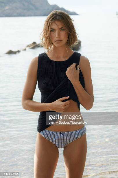 Model Arizona Muse poses for Madame Figaro on May 22 2017 in La Ciotat France Top underwear earrings and rings PUBLISHED IMAGE CREDIT MUST READ Jimmy...