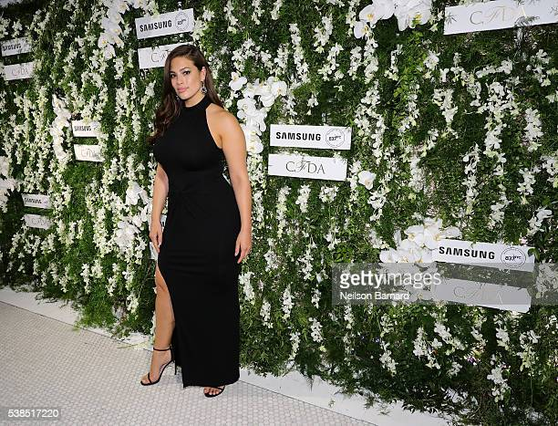 Model Ashley Graham arrives at the official 2016 CFDA Fashion Awards after party hosted by Samsung 837 in NYC on June 6 2016 in New York City