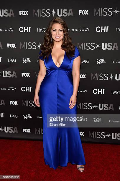 Model Ashley Graham attends the 2016 Miss USA pageant at TMobile Arena on June 5 2016 in Las Vegas Nevada