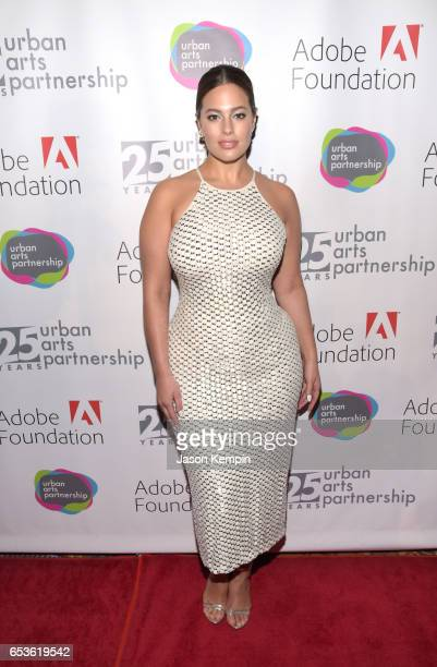 Model Ashley Graham attends the celebration of Urban Arts Partnership 25th Anniversary Benefit at Cipriani Wall Street on March 15 2017 in New York...