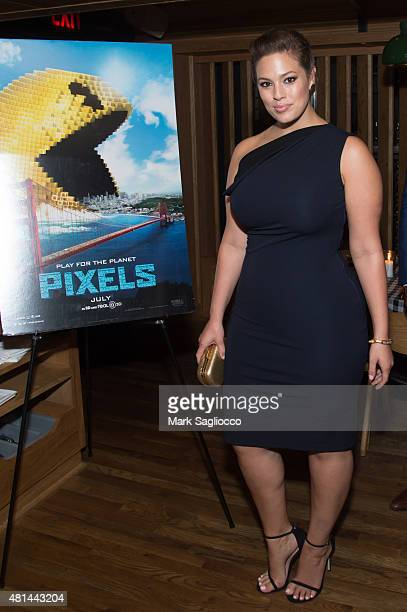 Model Ashley Graham attends the Dinner Honoring the Women of 'Pixels' at Upland on July 20 2015 in New York City