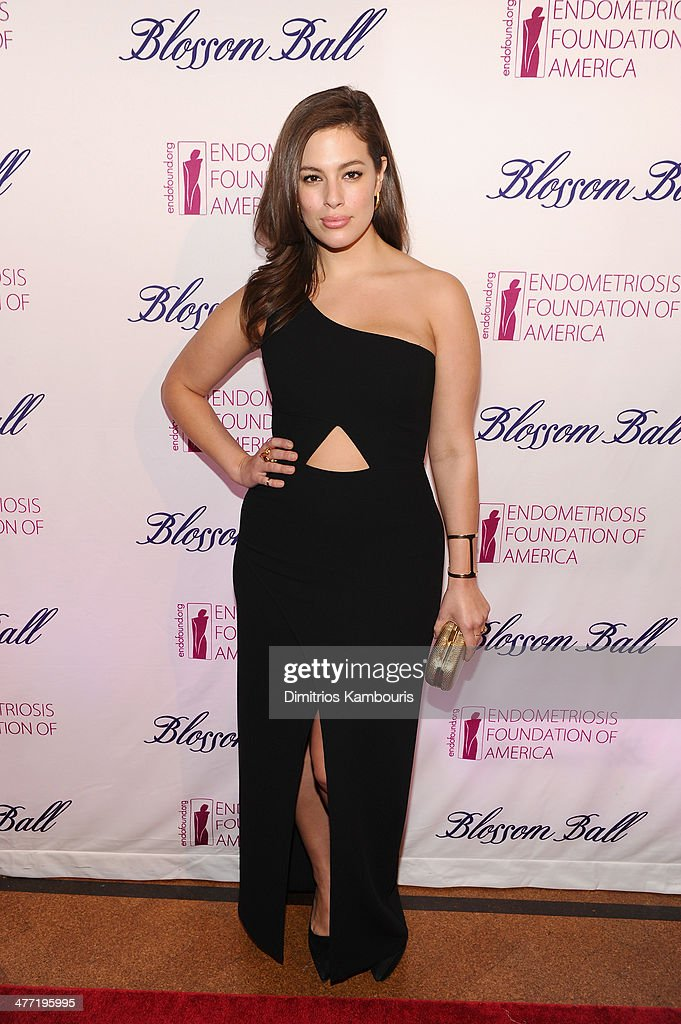 Model Ashley Graham attends the Endometriosis Foundation of America's 6th annual Blossom Ball hosted by Padma Lakshmi and Tamer Seckin, MD at 583 Park Avenue on March 7, 2014 in New York City.