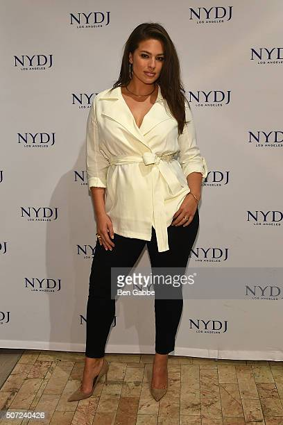 Model Ashley Graham attends the NYDJ 2016 Fit To Be Campaign Launch at Lord Taylor on January 28 2016 in New York City