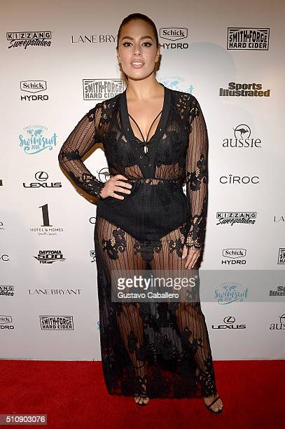 Model Ashley Graham attends the Sports Illustrated Swimsuit 2016 Swim BBQ VIP at 1 Hotel Homes South Beach on February 17 2016 in Miami Beach Florida