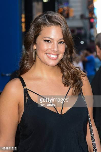 Model Ashley Graham leaves the 'Good Morning America' taping at the ABC Times Square Studios on September 18 2015 in New York City